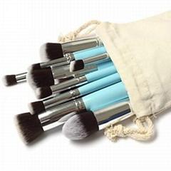 新妍美厂家供应10支化妆刷套装 高质量多功能粉底刷