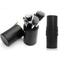 Manufacturer OEM cosmetic brush multi color 7 Brush Set + cylinder box