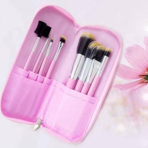 新妍美廠家供應7支化妝套刷+ PU化妝包 可定製 美容美妝化妝掃 1
