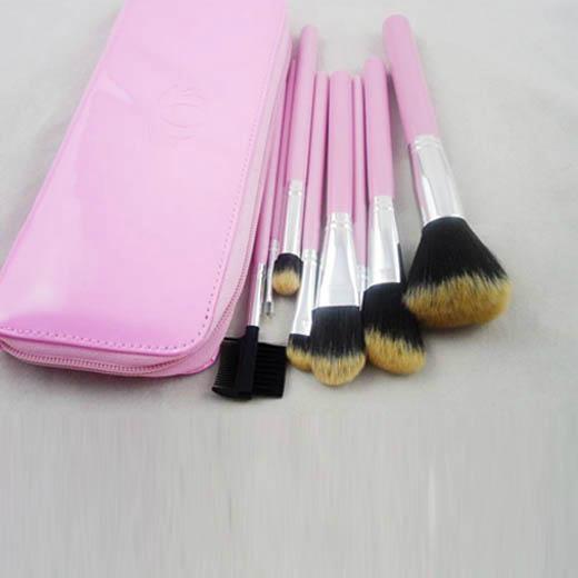 新妍美厂家供应7支化妆套刷+ PU化妆包 可定制 美容美妆化妆扫 3