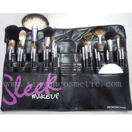廠家供應高質量動物毛 水貂灰鼠 松鼠黃狼毛化妝套刷美容工具 3
