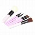新妍美厂家供应精美6只装纤维毛化妆套刷 便携款礼品装化妆扫 2