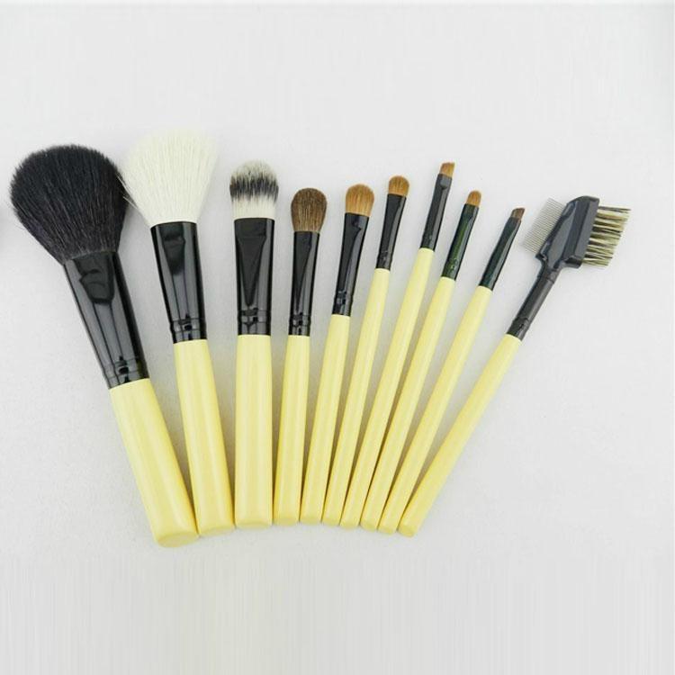 新妍美廠家供應10支白色木柄化妝掃美容工具 1