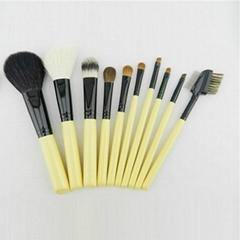 新妍美廠家供應10支白色木柄化妝掃美容工具
