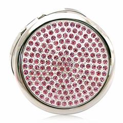 新妍美供應圓形金屬精緻款便攜化妝鏡 可定製