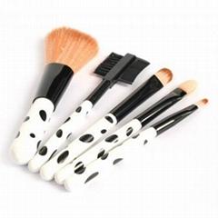 廠家供應OEM便攜式5支裝羊毛高檔化妝套刷 新妍美 化妝刷