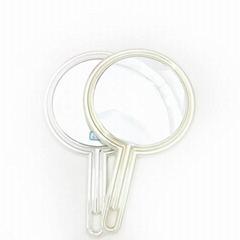新妍美供應公主風格塑膠手柄化妝鏡 可定製