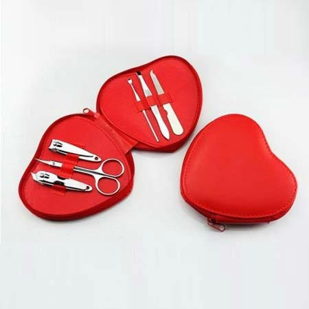 XINYANMEI Supply Heart Shape 6PCS Manicure Set