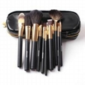 XINYANMEI Manufactury Supply Black Handle Makeup Bruhs Set