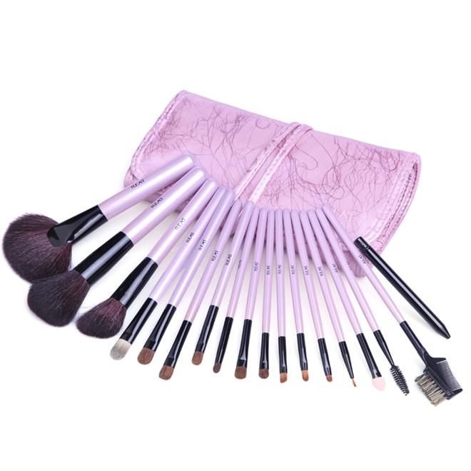 新妍美供應紫色禮品裝便攜款化妝套刷 美容美妝工具化妝掃 可定製 1