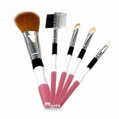 新妍美廠家供應紅色5支裝套刷 精美化妝工具 可定製