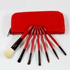 初學者適用美妝工具7支裝木柄膠柄化妝刷