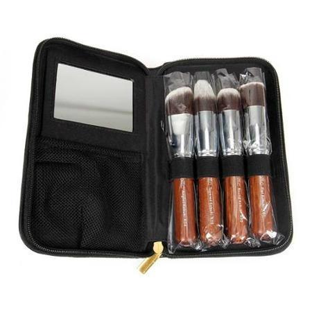 新妍美厂家供应精美5支装化妆套刷附带镜子 可定制 美妆美容工具 1