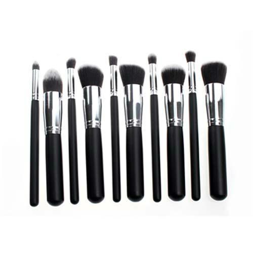 新妍美供应黑色精美款木柄化妆套刷 可定制 美容美妆化妆扫 1