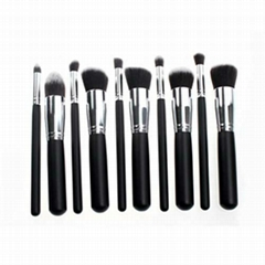 新妍美供应黑色精美款木柄化妆套刷 可定制 美容美妆化妆扫