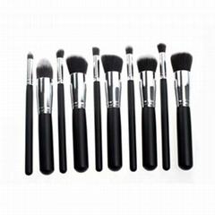 新妍美供應黑色精美款木柄化妝套刷 可定製 美容美妝化妝掃