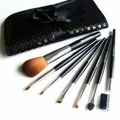 新妍美厂家供应精美化妆套刷7只装 PU化妆包 美容美妆化妆工具