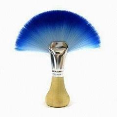 廠家供應藍色扇形化妝刷美容美妝工具化妝掃 可定製