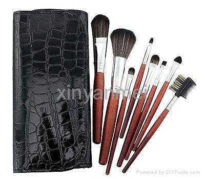 新妍美厂家供应8支木柄高档化妆刷化妆刷礼品刷 2