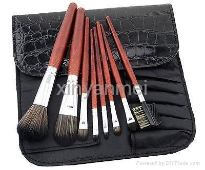 新妍美廠家供應8支木柄高檔化妝刷化妝刷禮品刷 4