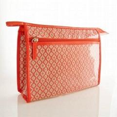 Travel Portable Makeup Cosmetic Bag Case  Waterproof Woven bag pvc cosmetic bag