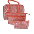 Travel Portable Makeup Cosmetic Bag Case  Waterproof Woven bag pvc cosmetic bag