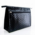 XINYANMEI Supply elegant  luxurious Diamond pattern Plaid pvc cosmetic bag