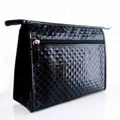 新妍美供應優雅奢華菱形紋格子防水化妝包 大小可定製
