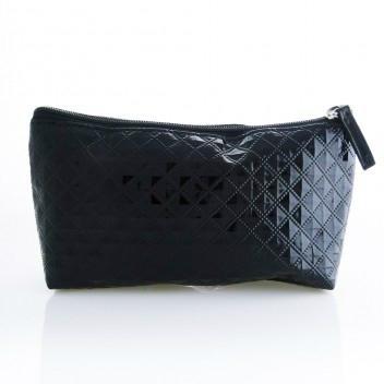 新妍美廠家供應時尚熱銷黑色鑽石紋珍珠紋化妝包 大小可定製 1