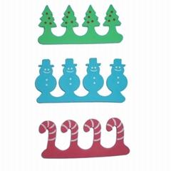 新妍美供應聖誕禮品美甲工具EVA腳趾分趾器美容套
