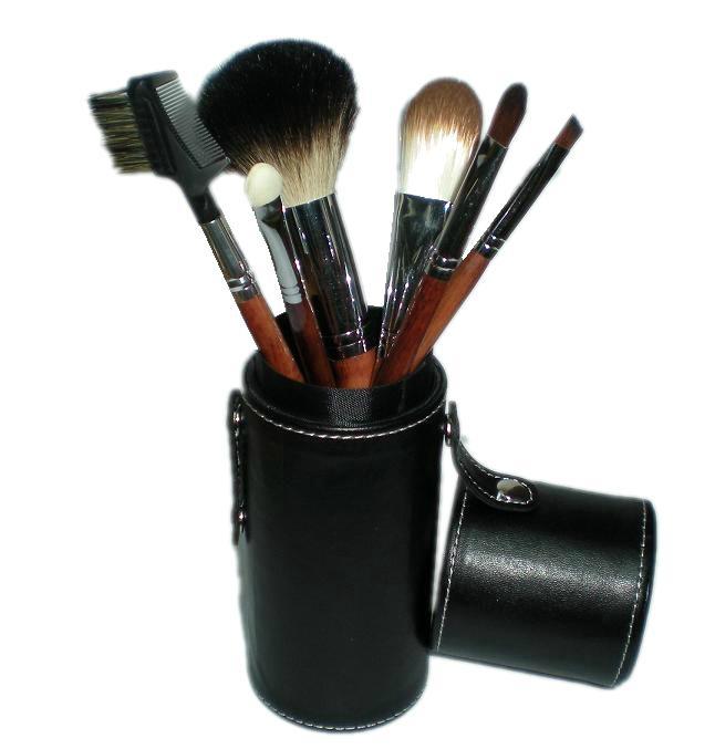 黑色7支12支圆筒化妆套刷makeup brush 美容化妆工具