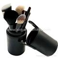 黑色7支12支圆筒化妆套刷makeup brush 美容化妆工具 2