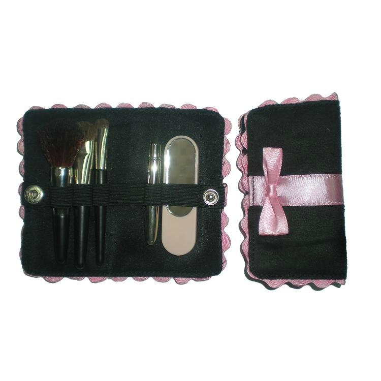 高质量铜管礼品刷 Mini羊毛化妆套刷美容工具 1