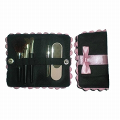 高质量铜管礼品刷 Mini羊毛化妆套刷美容工具