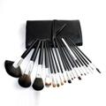 厂家供应黑色18支专业化妆刷套装木质手柄学校专业彩妆套刷 1