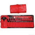 Red 24piece  Makeup Brush Set  china OEM factory