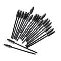 厂家供应25支装一次性睫毛刷子 黑色睫毛卷 美容工具
