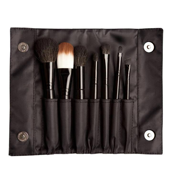新时尚黑色磁扣包7PCS化妆套刷彩妆工具批发 1