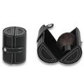 black hard case cosmetic bag kabuki