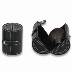 black hard case cosmetic bag kabuki brush set