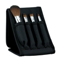 fashion black folding bag 4PCS brush set gift