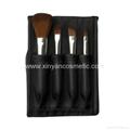 fashion black folding bag 4PCS brush set gift