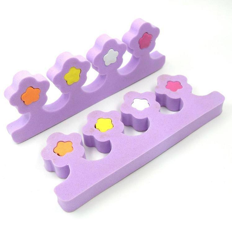 新妍美供应EVA星形花朵形多色分趾器 精美礼品化妆用具 2