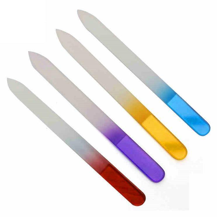 新妍美供應漸變色玻璃指甲銼美甲工具  1
