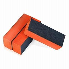 美甲工具用品批發光療水晶修指甲片指甲銼黑豆腐指甲四面塊打磨塊