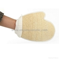 Cotton Hand Type Wearable Two-sided Bathing Gloves Bath Tool