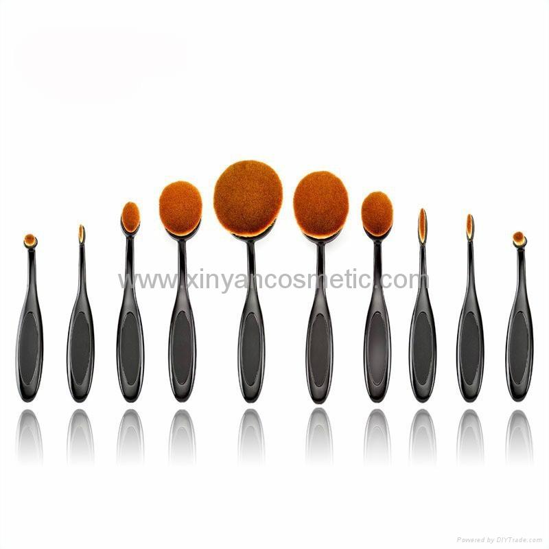 新款10支牙刷型化妝刷套裝 十支裝牙刷造型粉底刷 1