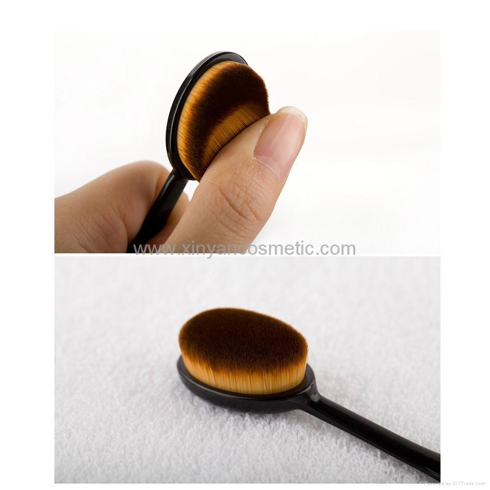 新款10支牙刷型化妝刷套裝 十支裝牙刷造型粉底刷 4