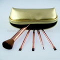 Manufactor OEM Gold 5 Pack Match Same Color Brush pack Makeup Brush Set