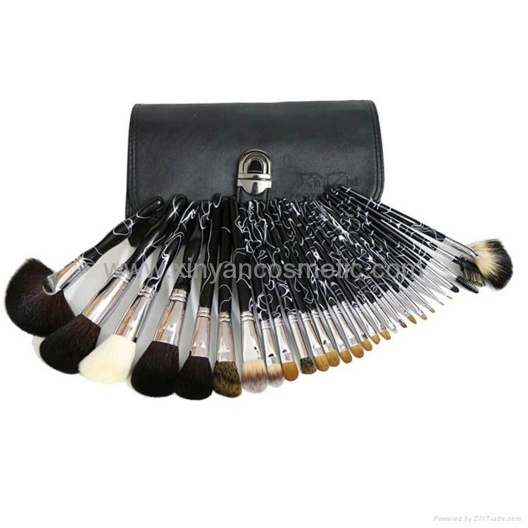High quality animal hair Mink hair, squirrel weasel hair makeup brush sets  2